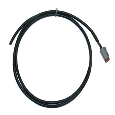 Deutsch DT 04-2P 2 pol Stift 1,5mm² 300mm Kabel FLRy  Wellschlauch  105°
